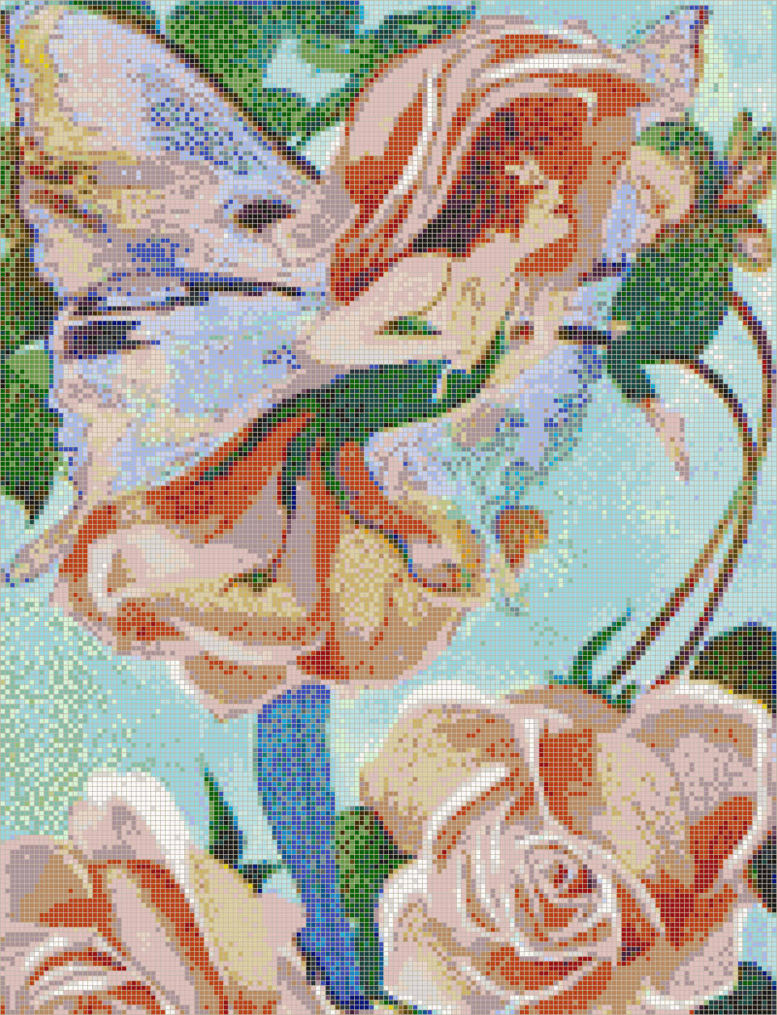 Rose Flower Fairy Mosaic