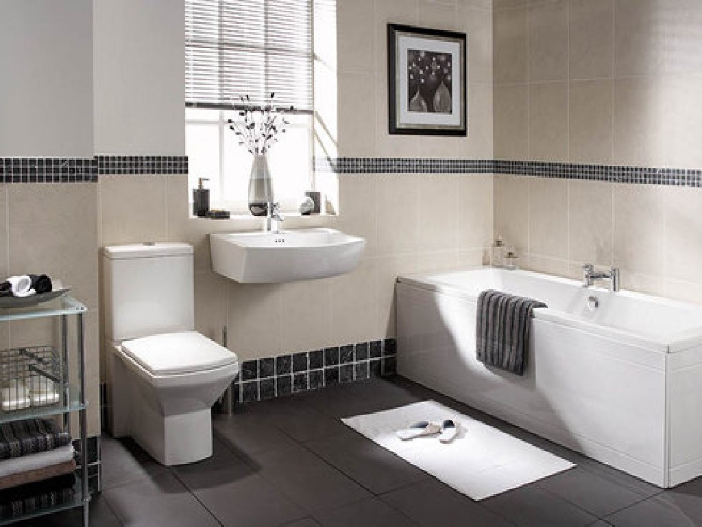 white bathroom wall and tile bathroom ideas 14 - Tile Bathroom Designs
