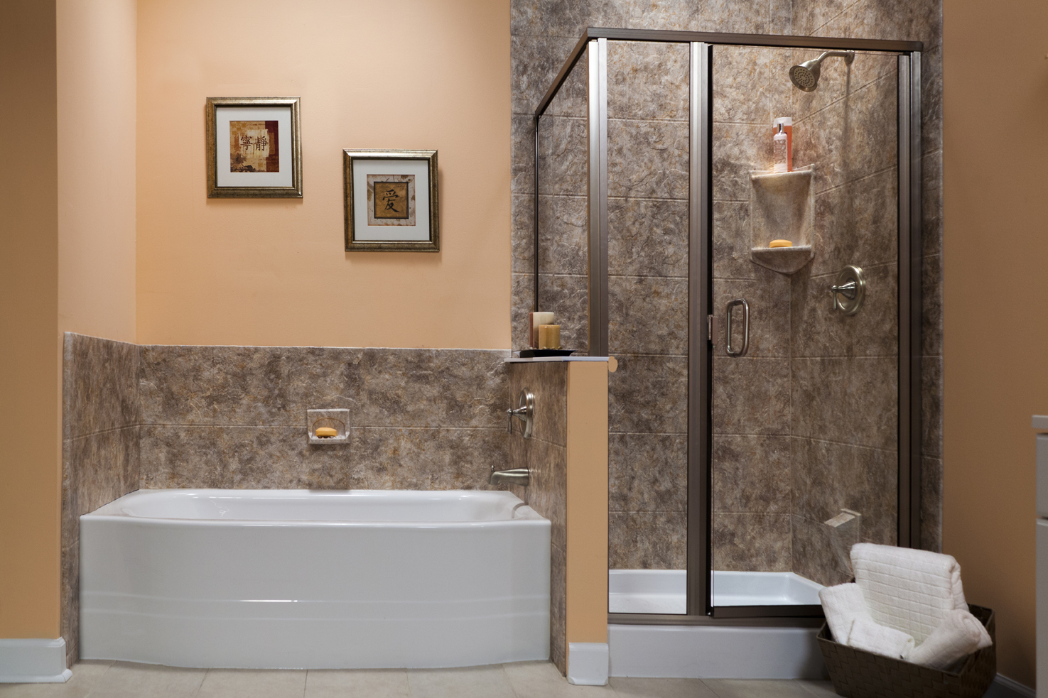 JPG Upstairs_river_rocks  White_Curved_Bath_and_White_Shower_Base_with_River_Rock_12x12_Walls__Brushed_Nickel_Photo2_IMG_0975_LR_bci