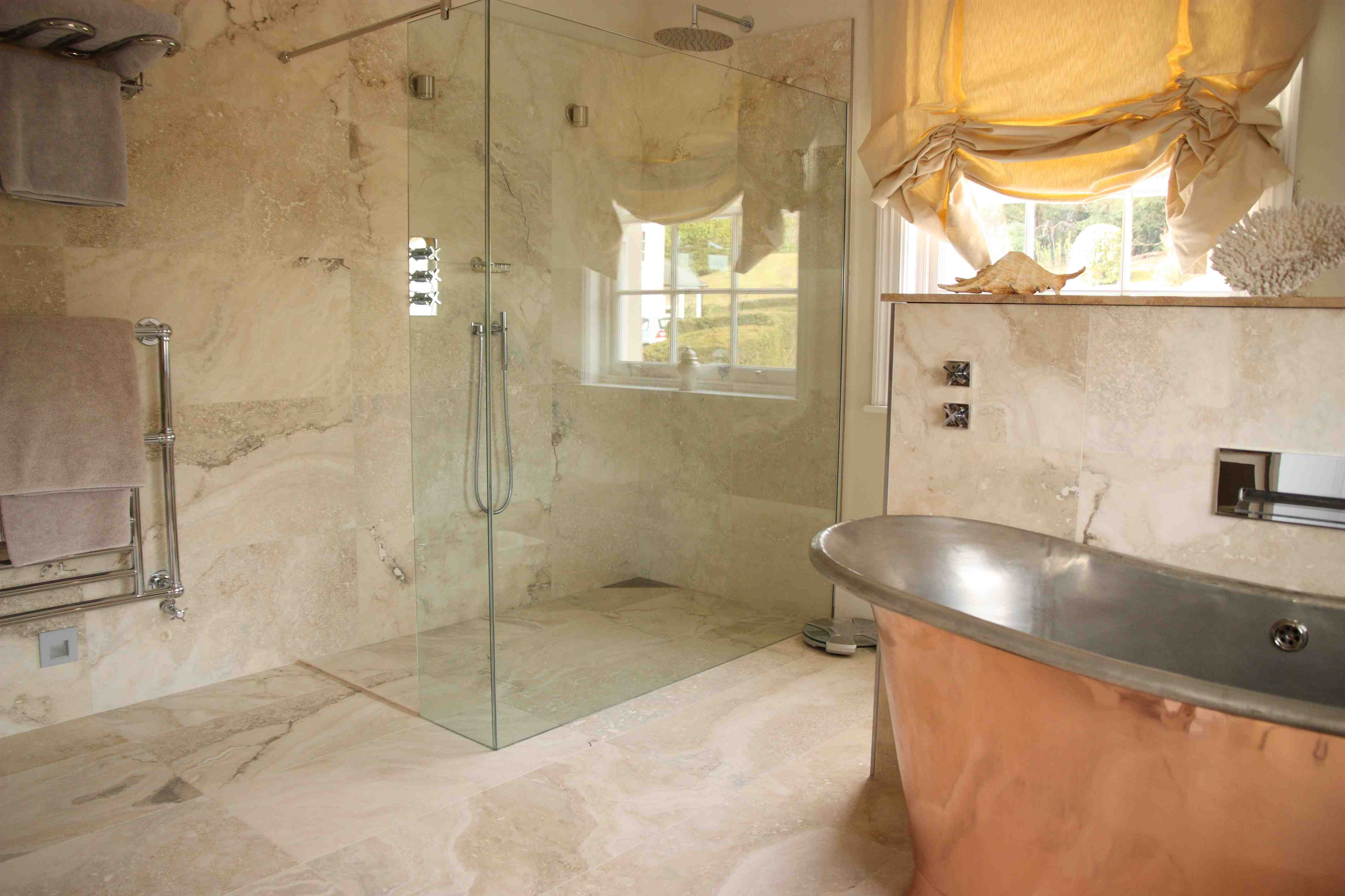 27 nice ideas and pictures of natural stone bathroom wall tiles Travertine bathroom pictures