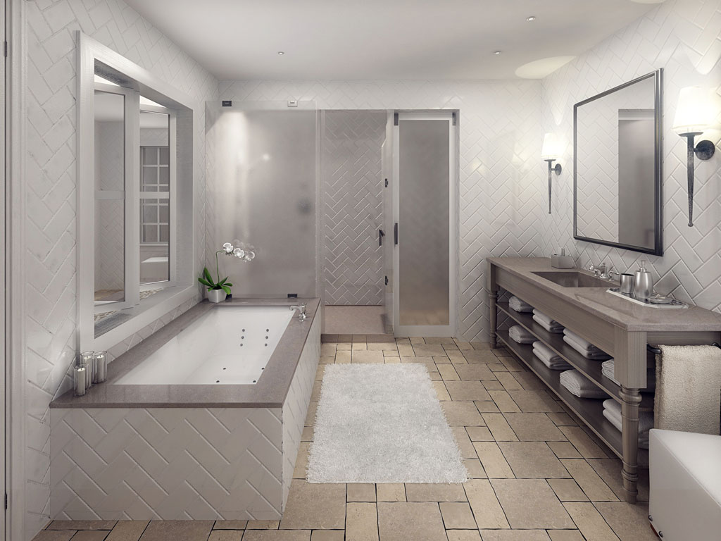 Yountville Hotel Bathroom. 30 amazing ideas and pictures of Victorian style bathroom floor tiles