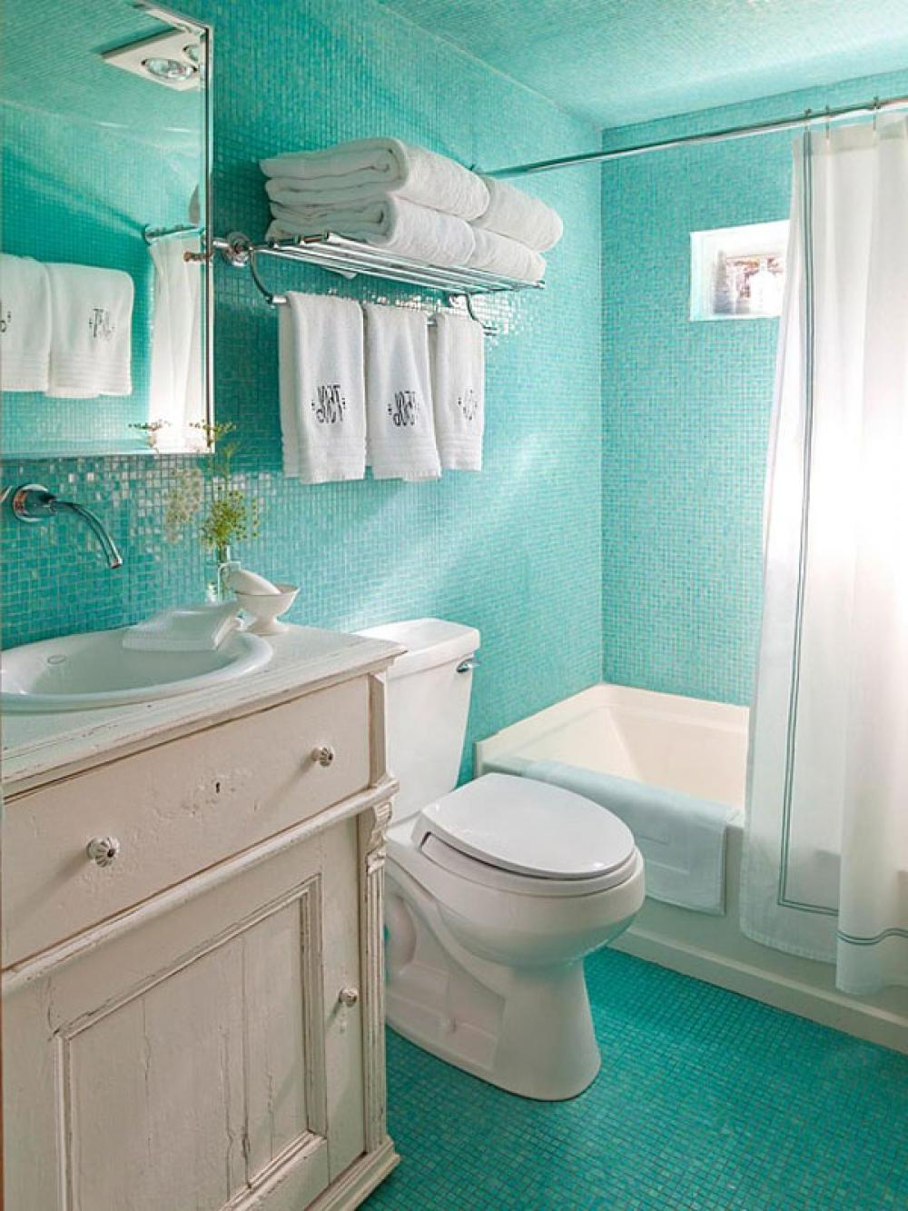 Blue And White Tile Bathroom Ideas | Home Design