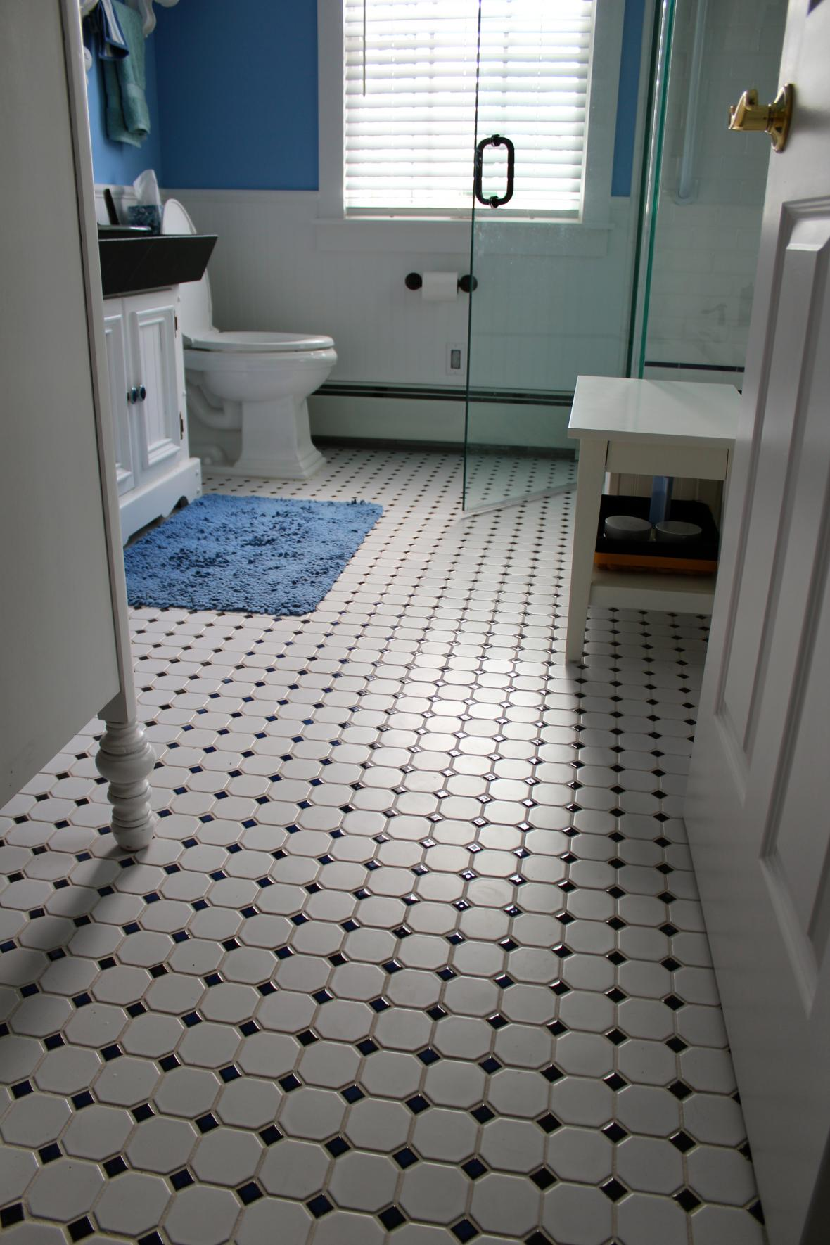 bathroom black and white floor tiles pictures2 23174