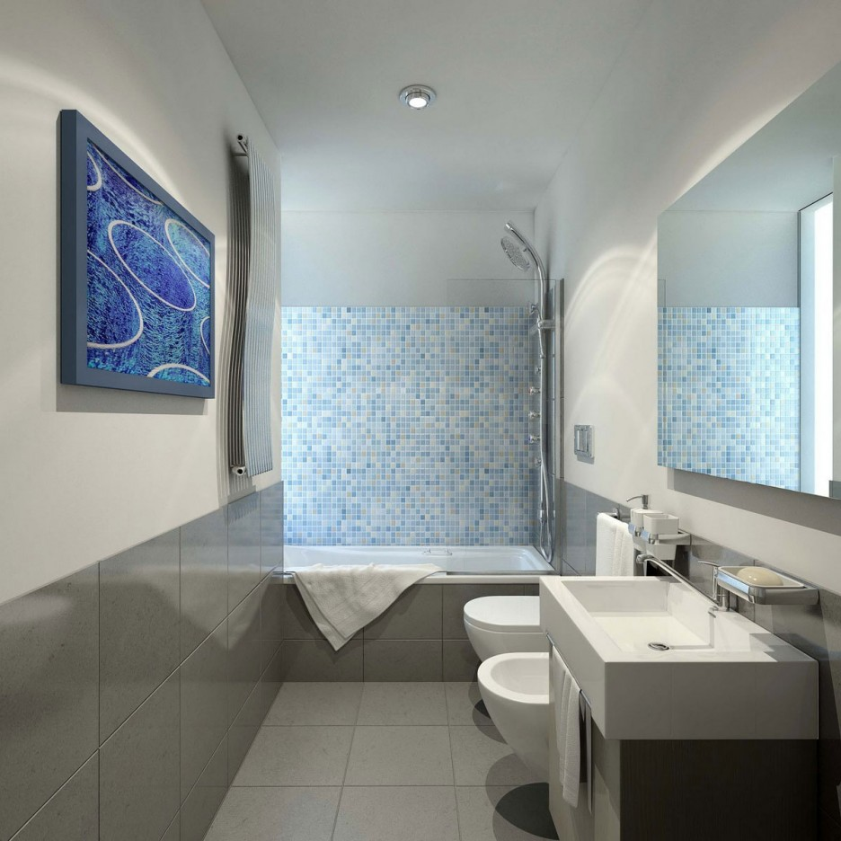 30 cool pictures and ideas of plastic tiles for bathroom walls.
