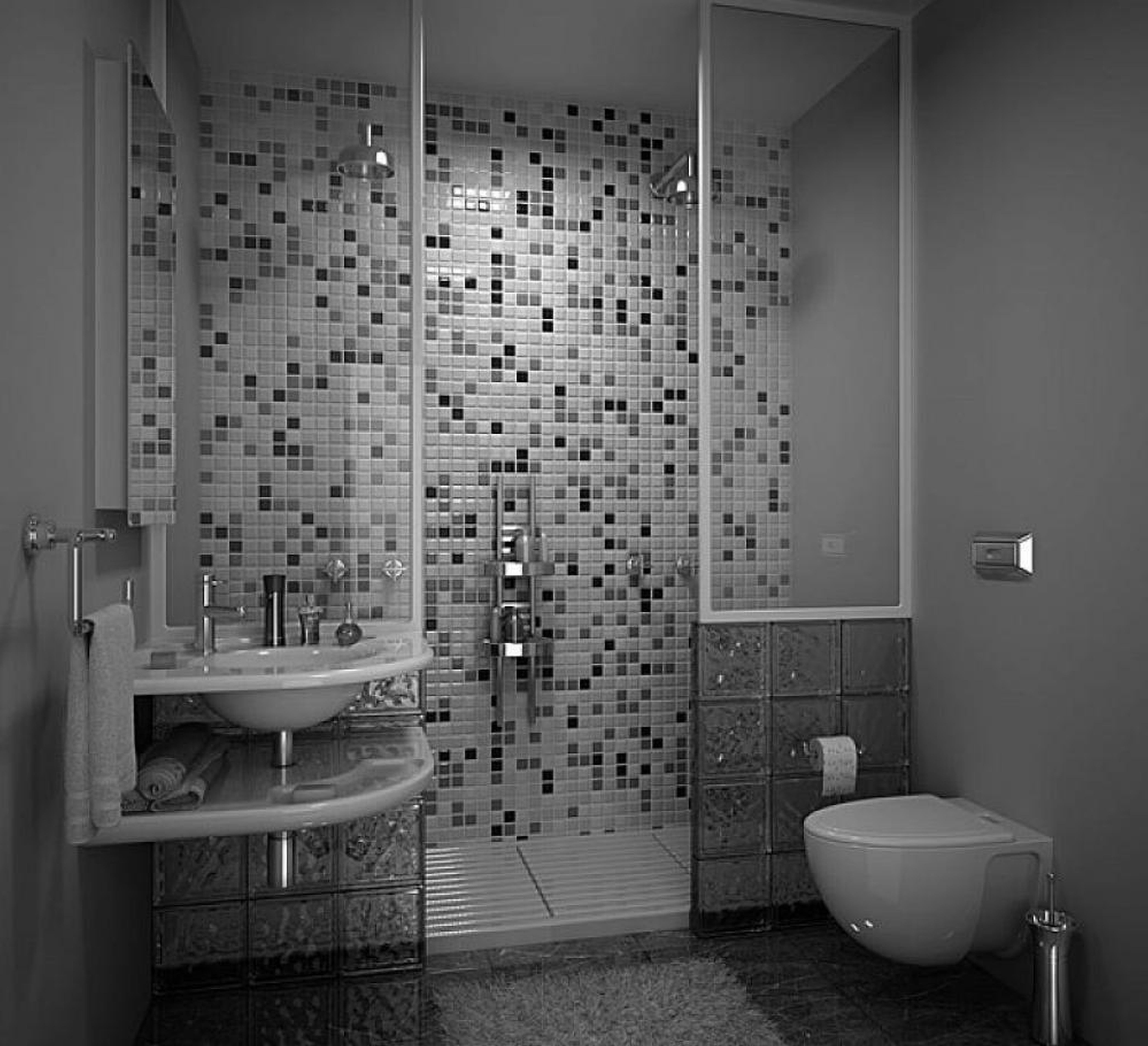 32 good ideas and pictures of modern bathroom tiles texture for Bathroom floor tile ideas for small bathrooms