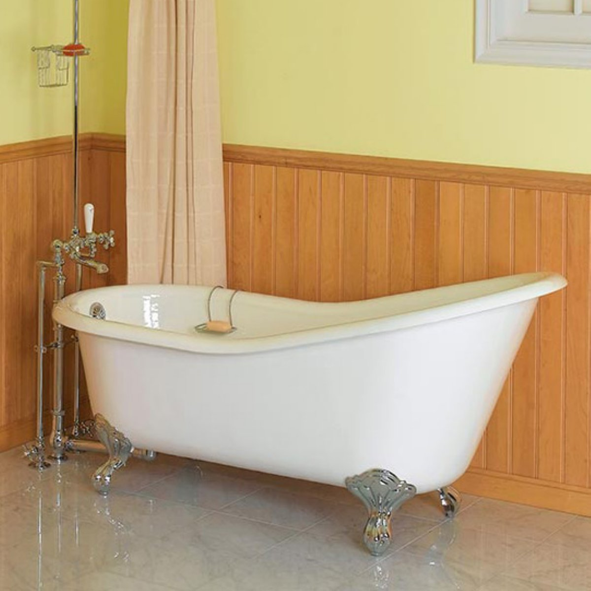 Bathroom Design Ideas With Clawfoot Tub ~ Great pictures and ideas of victorian bathroom floor