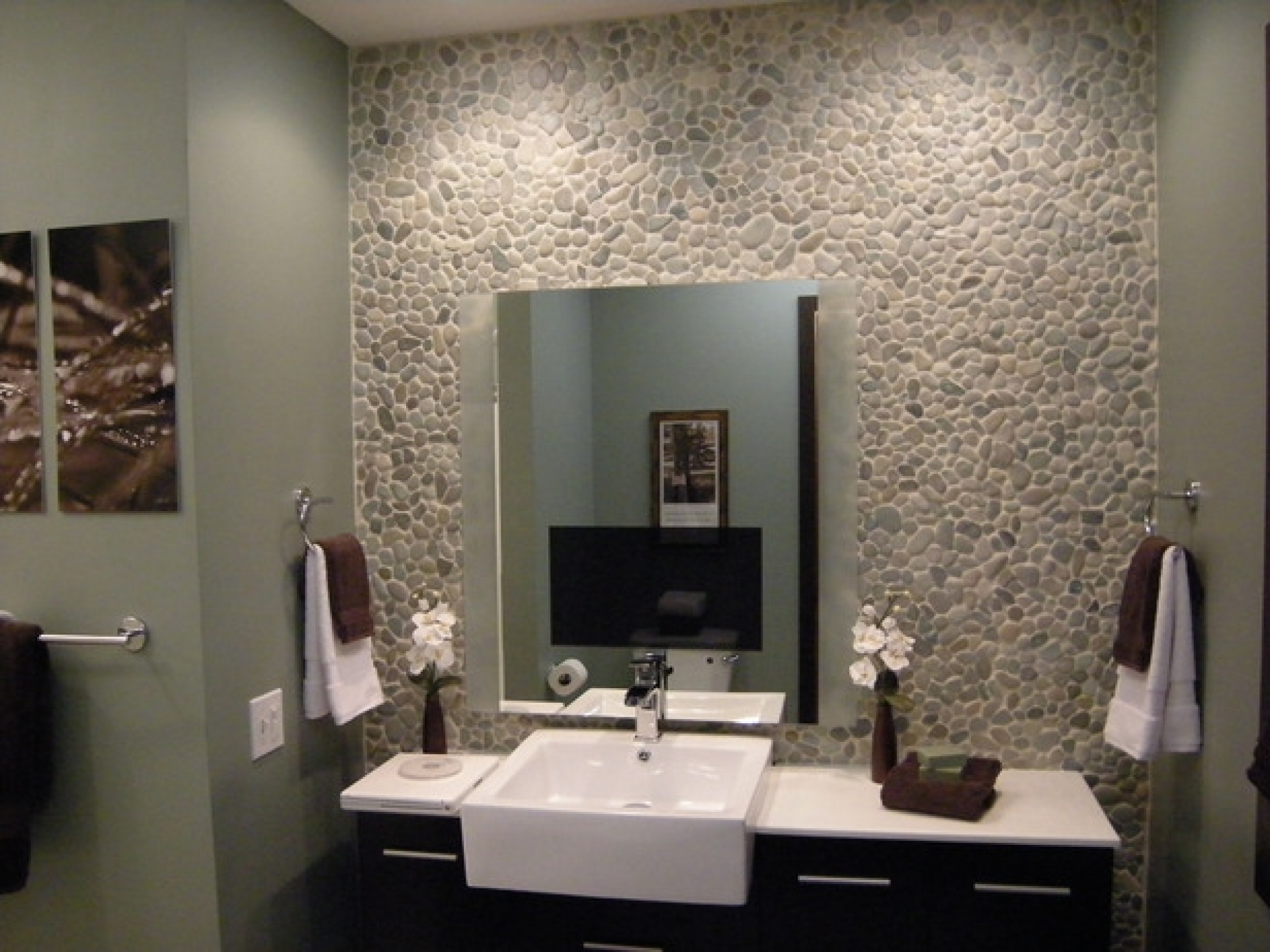 33 stunning pictures and ideas of natural stone bathroom for Small bathroom natural