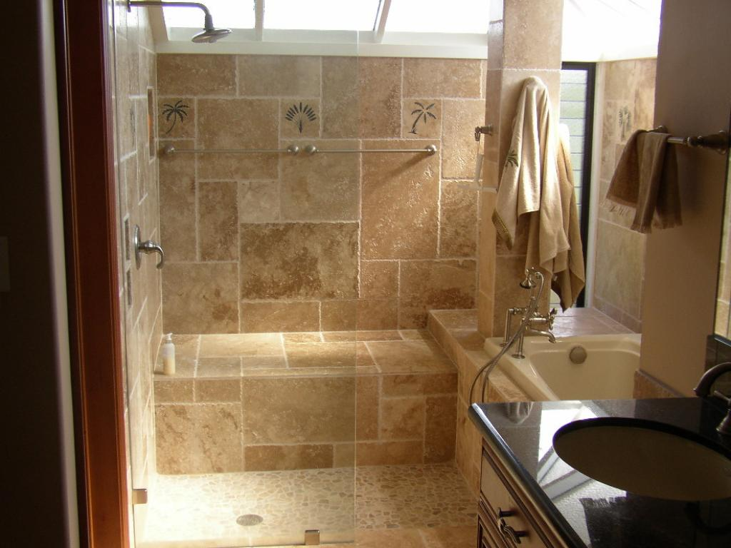 30 cool pictures of old bathroom tile ideas for Small bathroom design ideas with tub