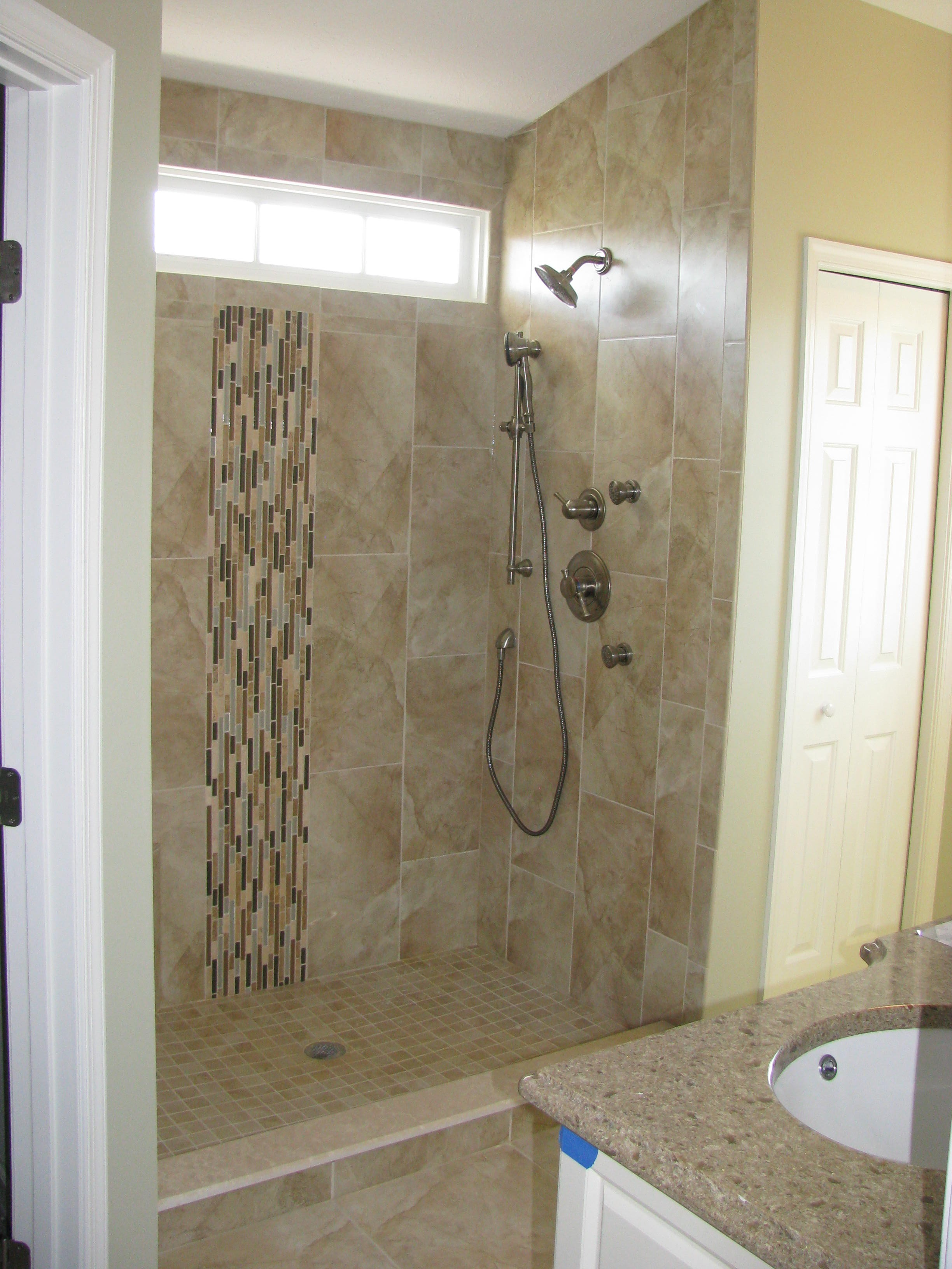 bathroom ideas small bathroom natural glass tile shower pics shower