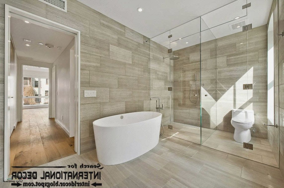30 nice pictures and ideas of modern bathroom wall tile for Contemporary bathrooms 2015