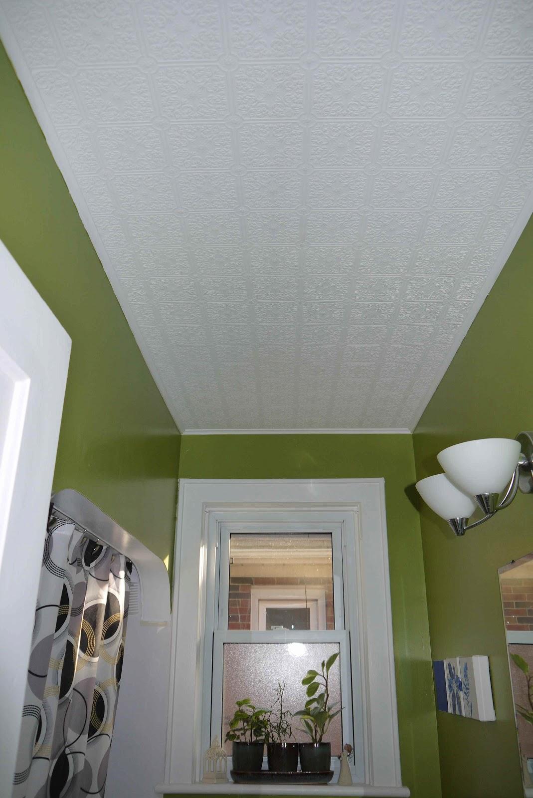 bathroom tin tile wallpaper ceiling