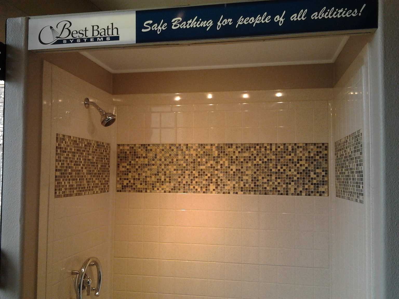 Mosaic Tile Shower Ideas: 30 Ideas Of Mosaic Tile Accents In A Bathroom
