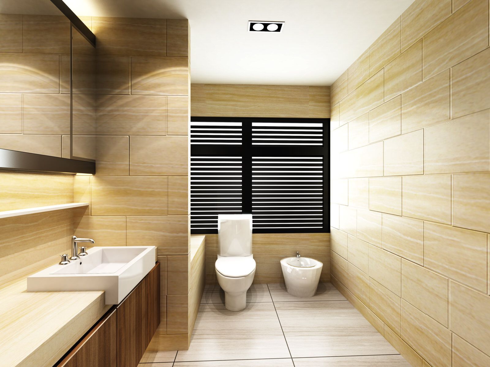 Modern Toilet in Bathroom of residences or hotels