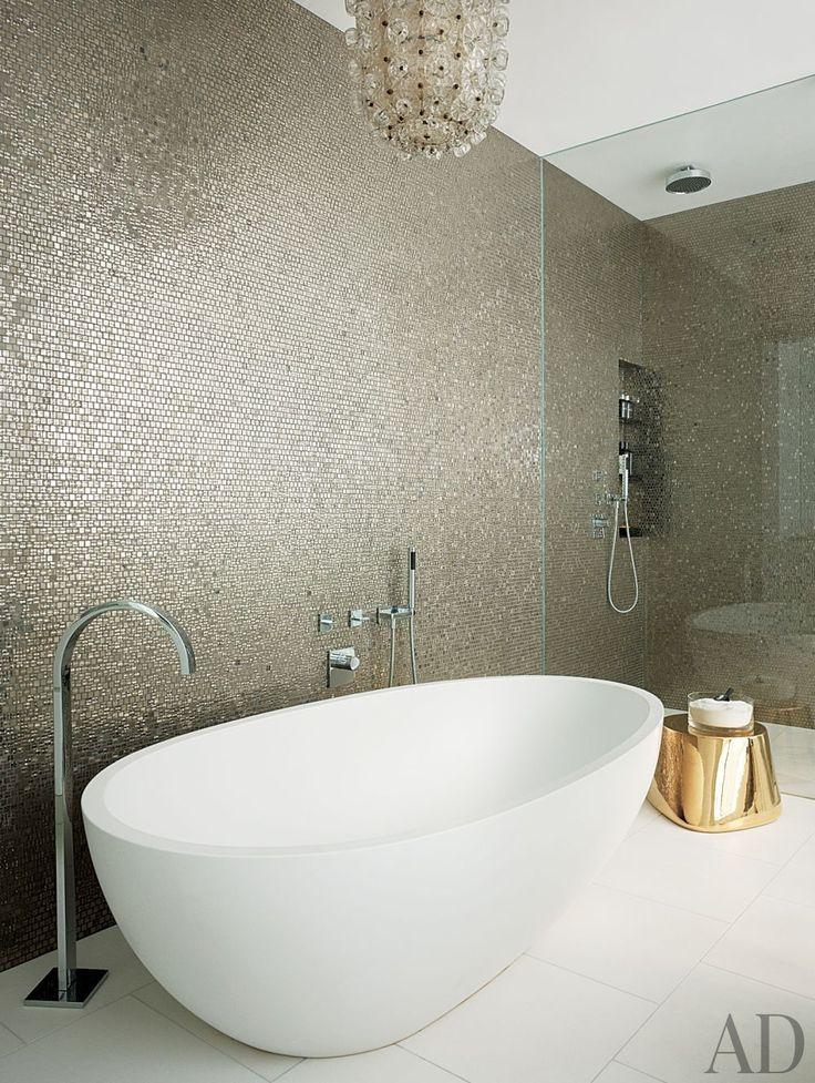 30 mosaic bathroom wall tile ideas. Black Bedroom Furniture Sets. Home Design Ideas