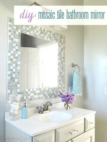 31 ideas of using mosaic tile around bathroom mirror for Design your own bathroom tiles