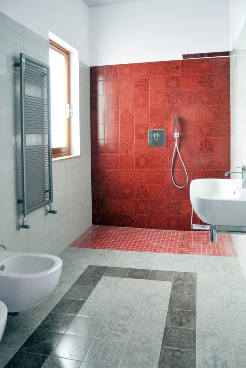 casa appia antica_______________ contemporary_products - Red Bathroom 2015
