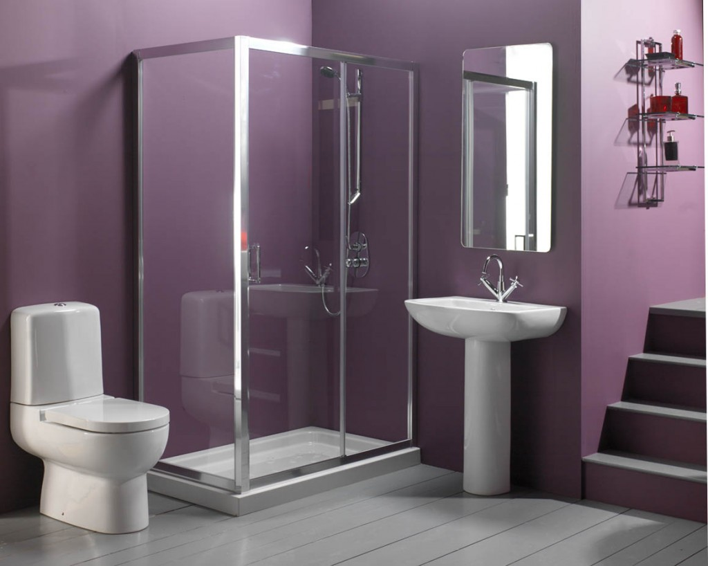comfortable-ultramodern-purple-bathroom-decor-ideas
