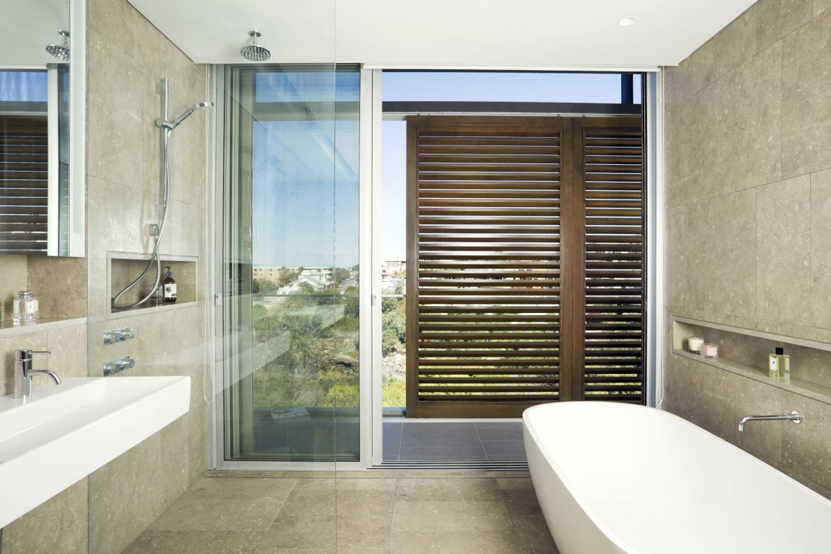 32 good ideas and pictures of modern bathroom tiles texture for Contemporary bathroom design