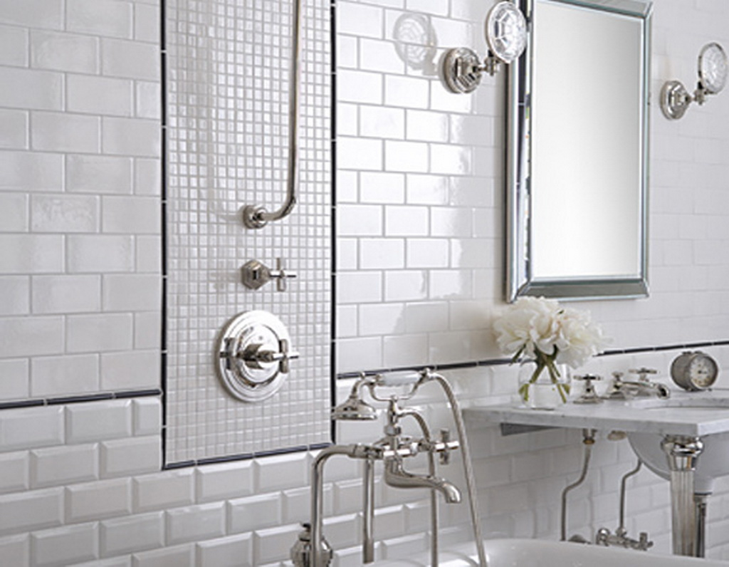 Bathroom Tiles White bathroom tiles texture - creditrestore
