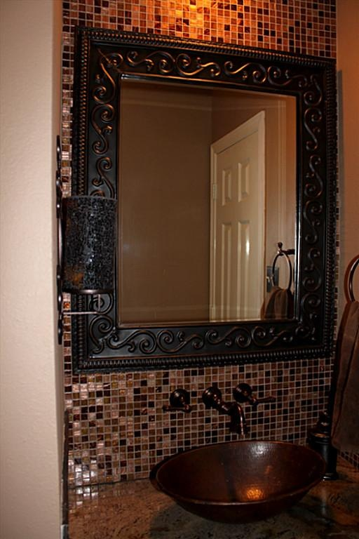 tile bathroom mirror frame 31 ideas of using mosaic tile around bathroom mirror 20813