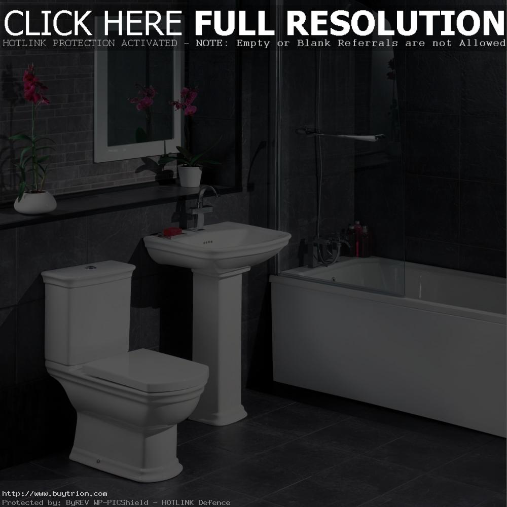 dazzling-victorian-bathroom-decor-with-grey-tile-wall-and-white-sink-design-idea1