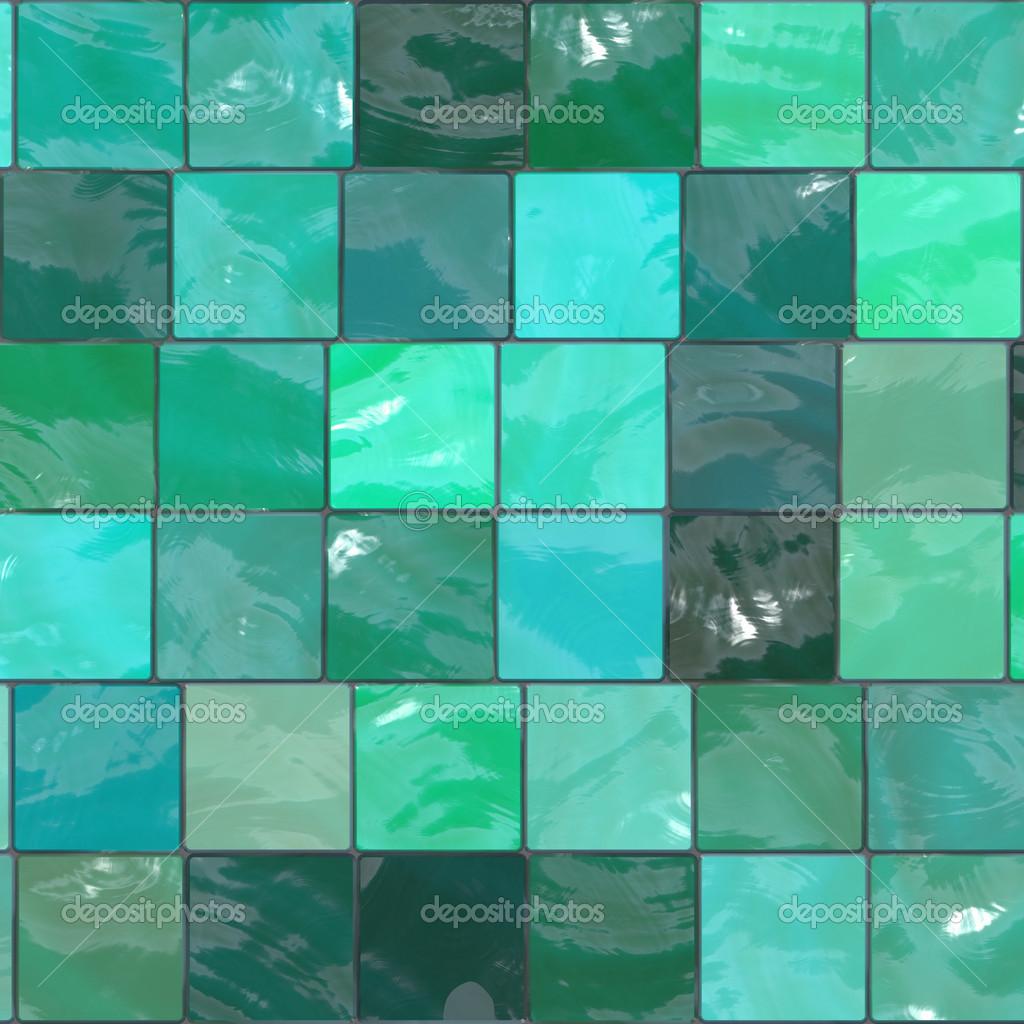 blue-green tiles