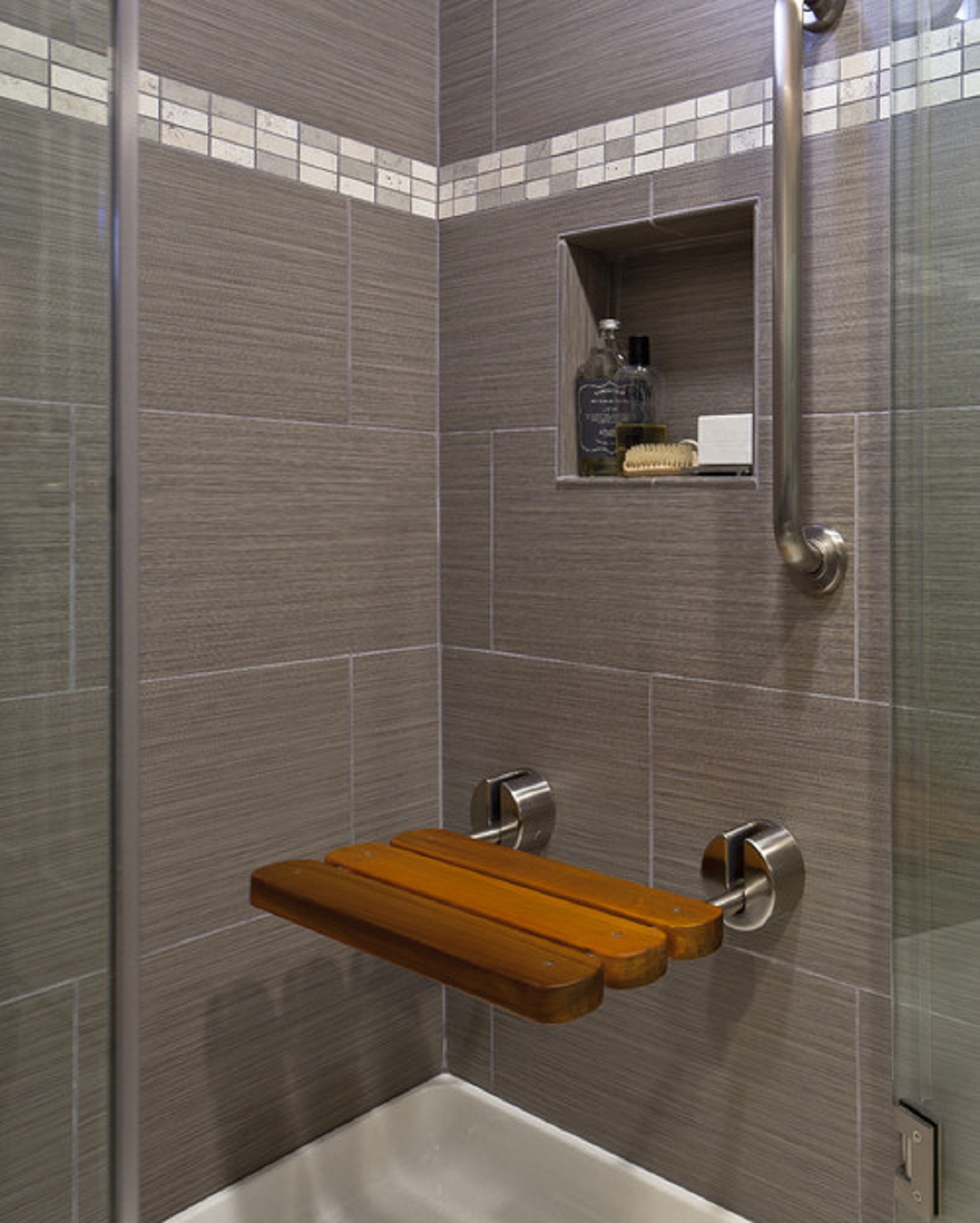 elegant-gray-bathroom-wall-tile-plus-square-niche-for-soap-with-perfume-idea-also-ultra-modern-shower-bench