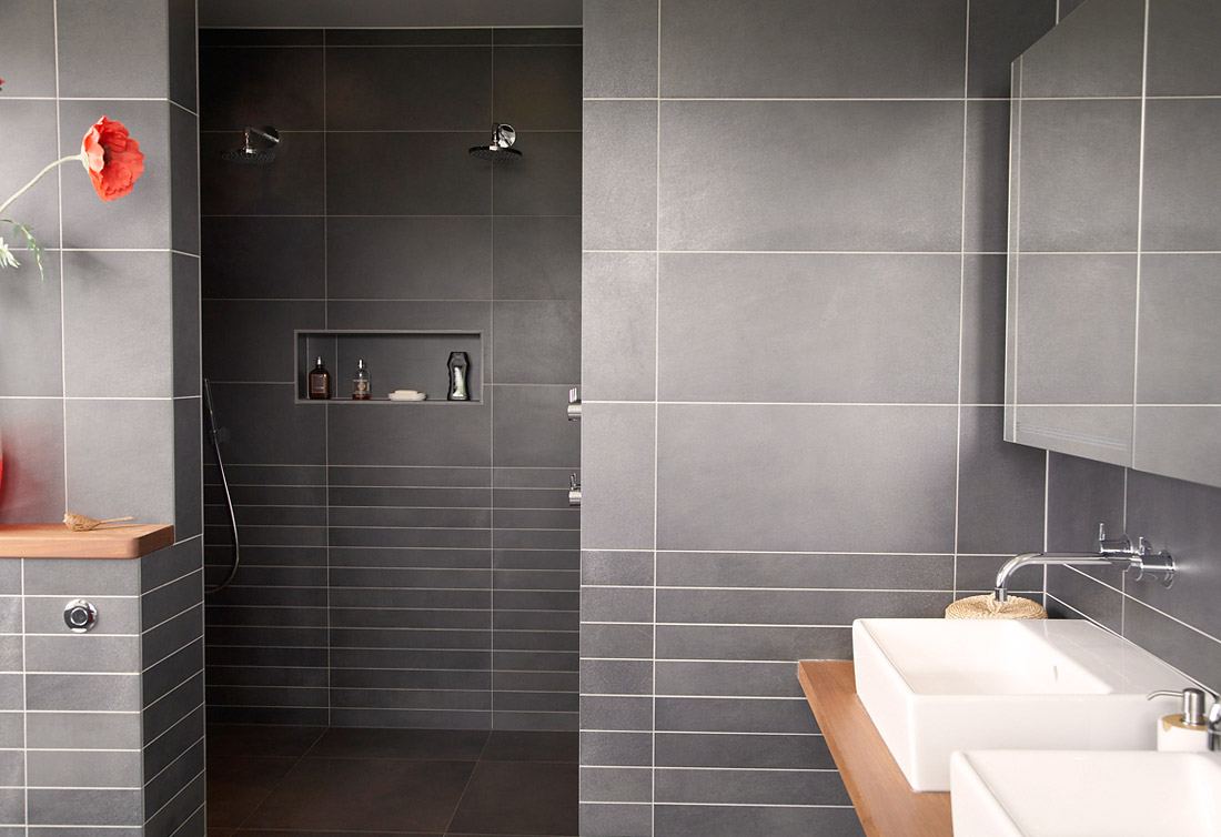 Modern bathroom wall tile designs - Floor Bathroom Minimalist Interior Bathroom Design Style Including