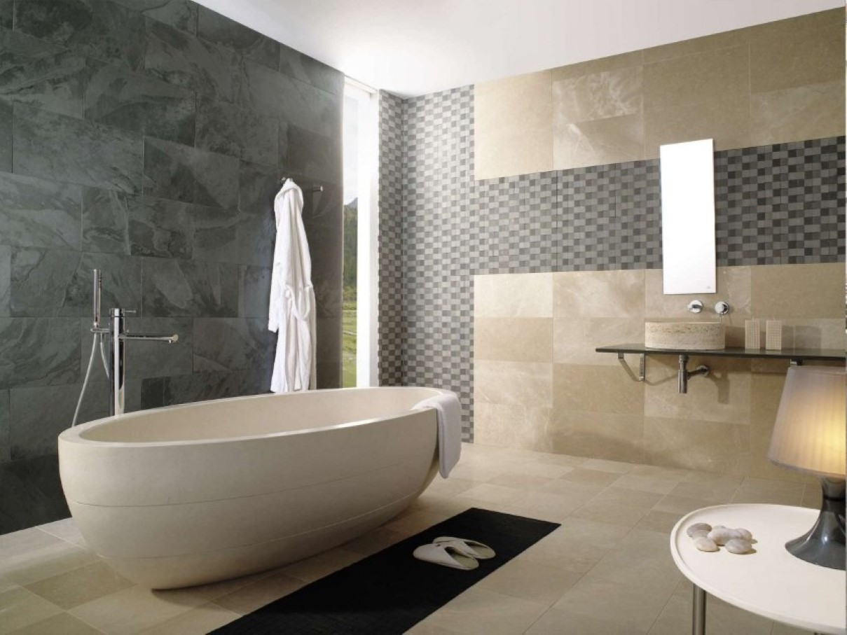 Image gallery modern bathroom tile for Modern bathroom tile designs pictures