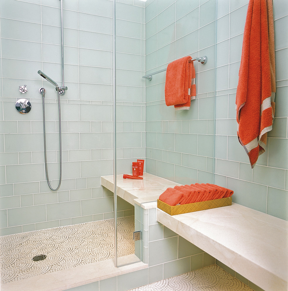 Glass Tiles In Bathroom
