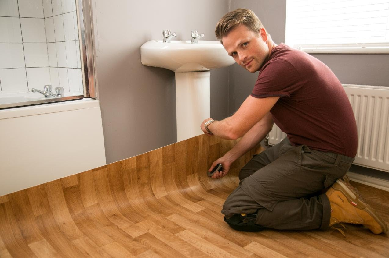 install-sheet-vinyl-flooring-bathroom