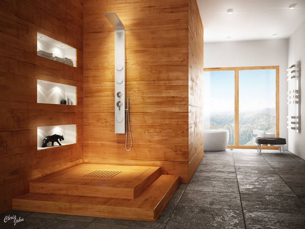 27 nice ideas and pictures of natural stone bathroom wall Wooden interior