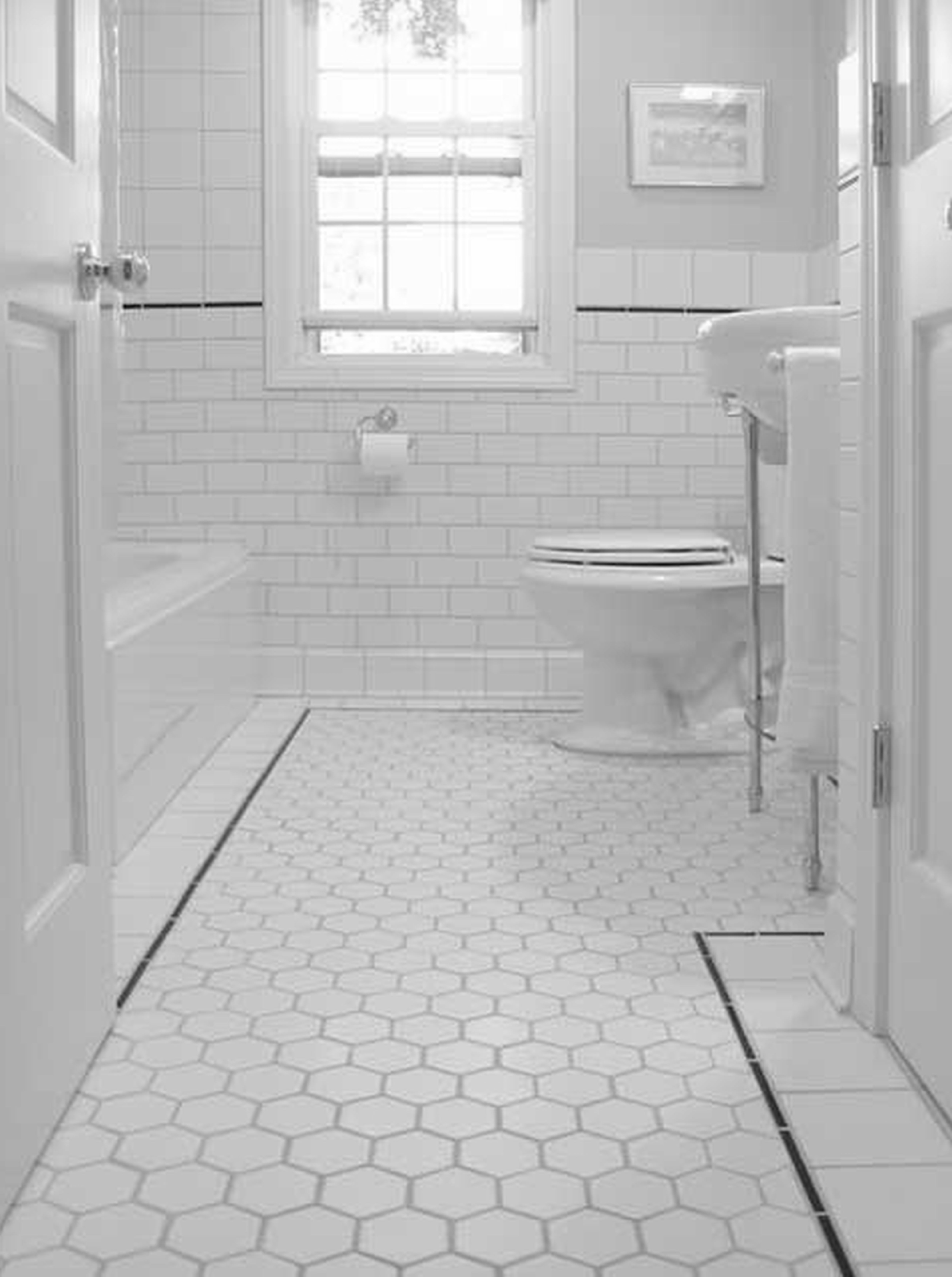 interior-white-pentagon-tile-floor-combined-with-white-toilet-also-glass-windows-on-the-white-wall-excellent-white-floor-tiles-bathroom-brighten-your-house