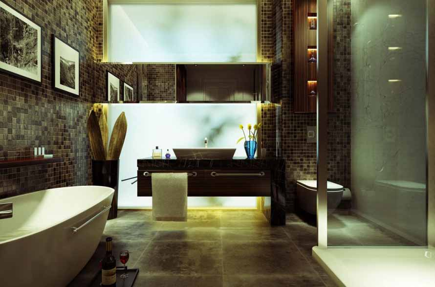 33 Ideas On Mosaic Tile Bathroom Design 2019