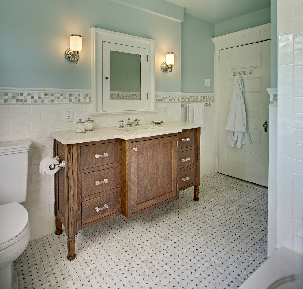 Bon Haines Bath Remodel IMG_1678 IMG_3526 KnerMasterBath1466 SFW1000 Marble  Basketweave Floor Tile Bathroom Traditional With Accent  ...