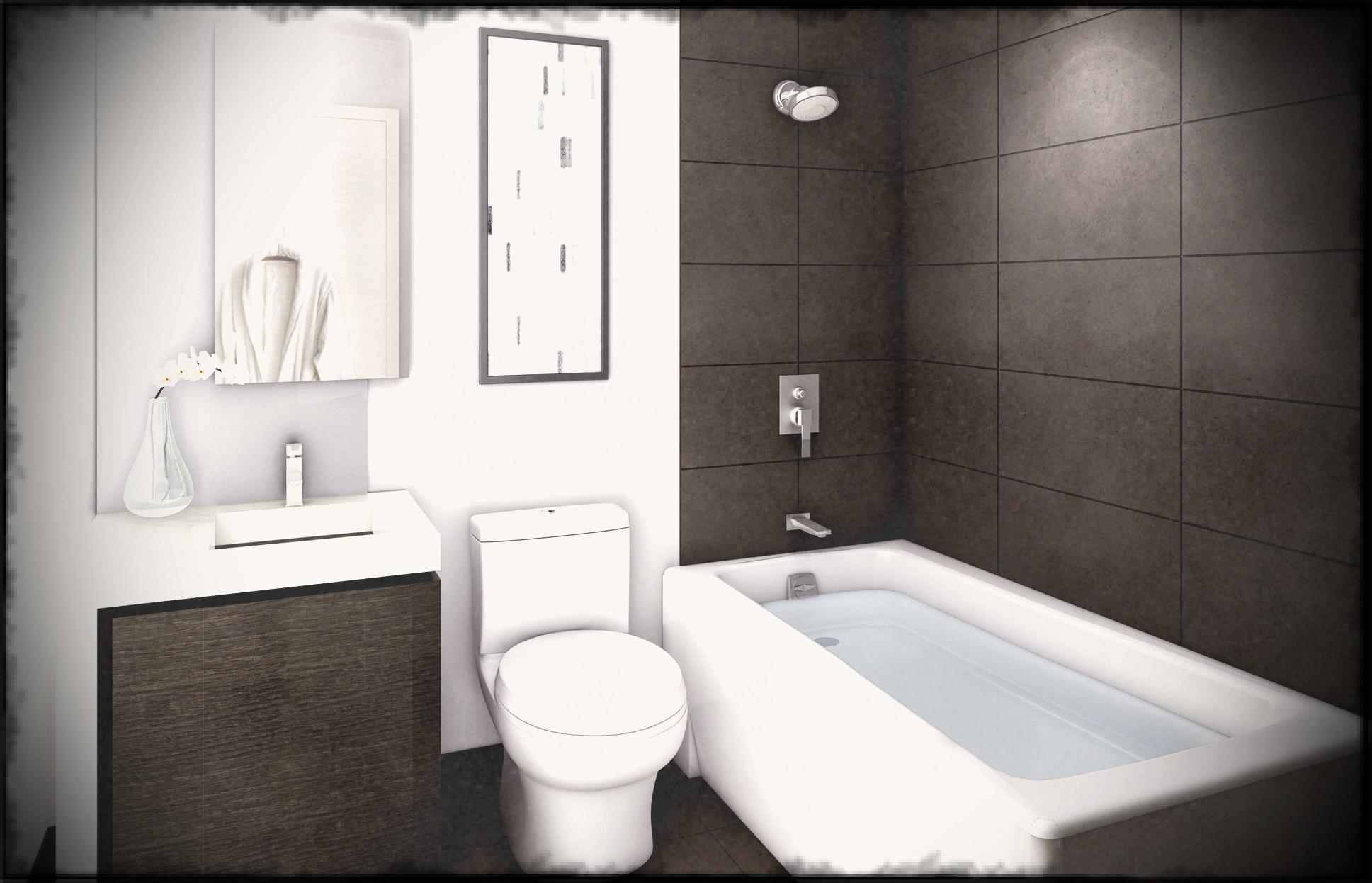 modern bathroom idea with white bathtup also toilet and white sink and