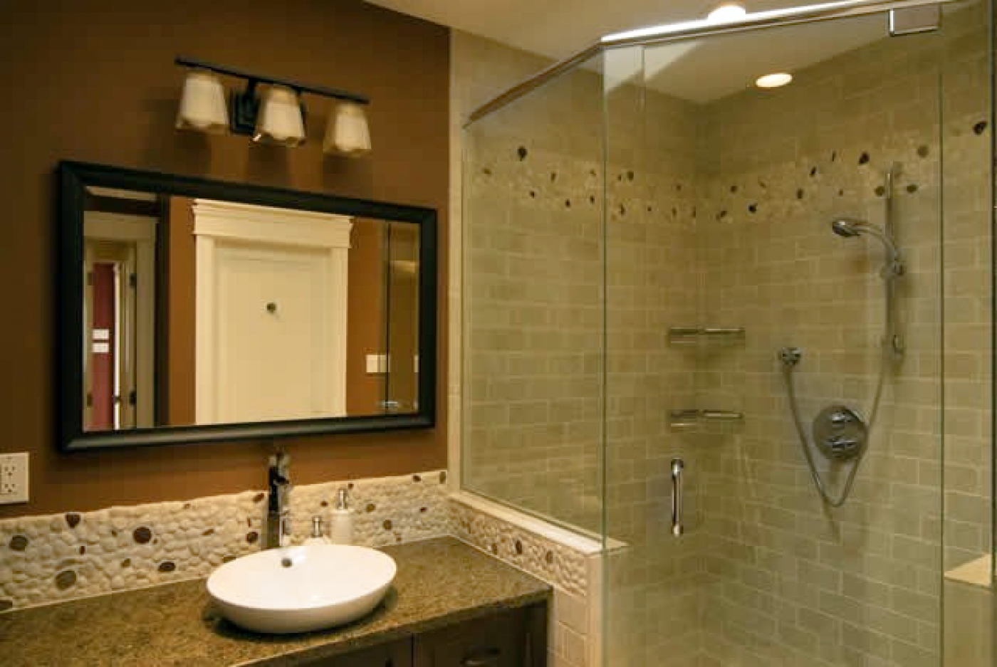 27 nice ideas and pictures of natural stone bathroom wall for Design of the bathroom