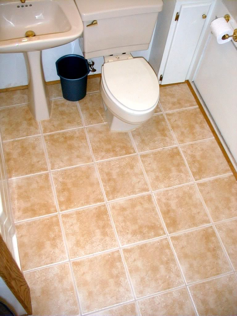30 stunning pictures and ideas of vinyl flooring bathroom for Tile floor covering ideas