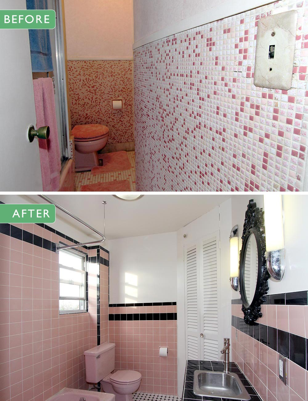plain 1950s bathroom remodel before and after remodeling ideas