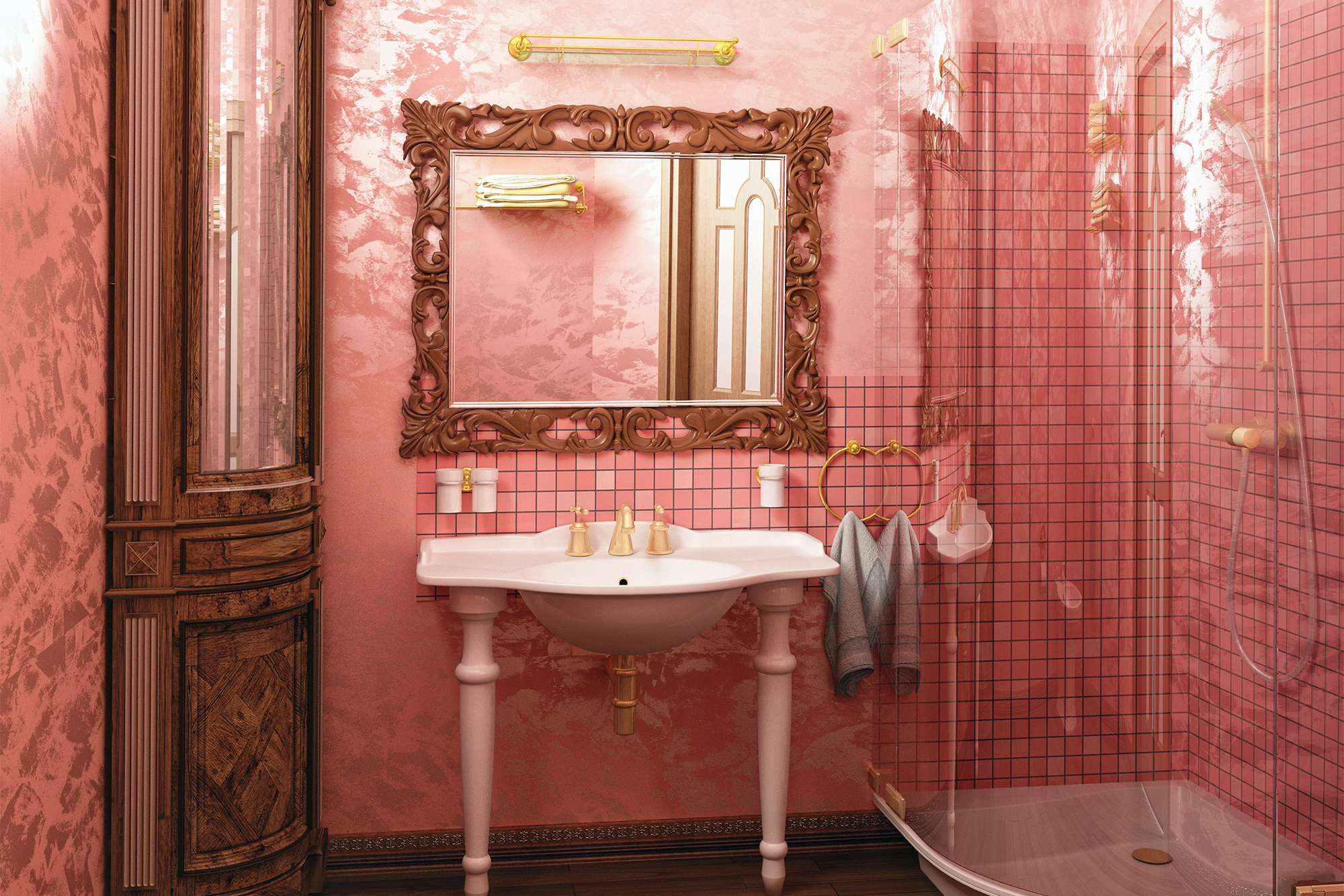 ... pink-bathroom ...