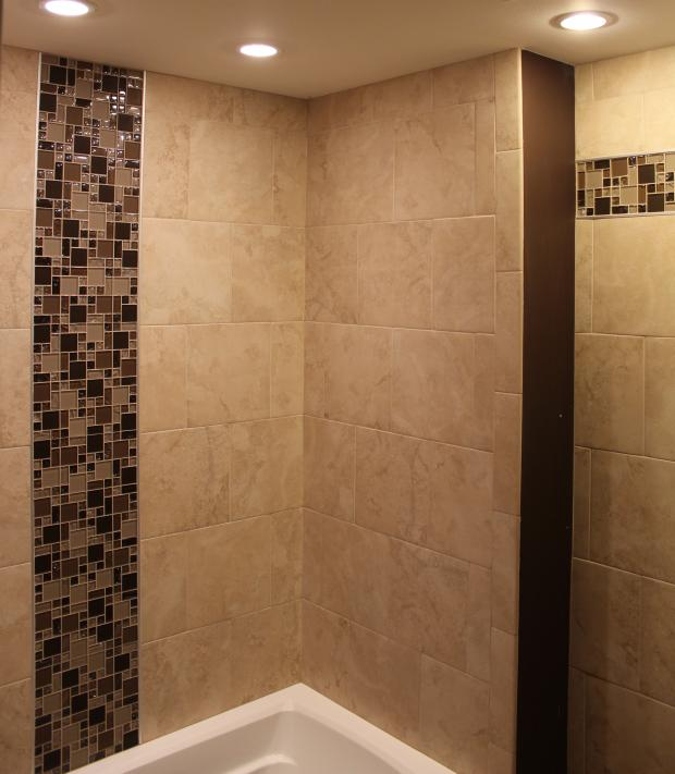 ... Porcelain Tile Shower Mosaic Glass Borders ...