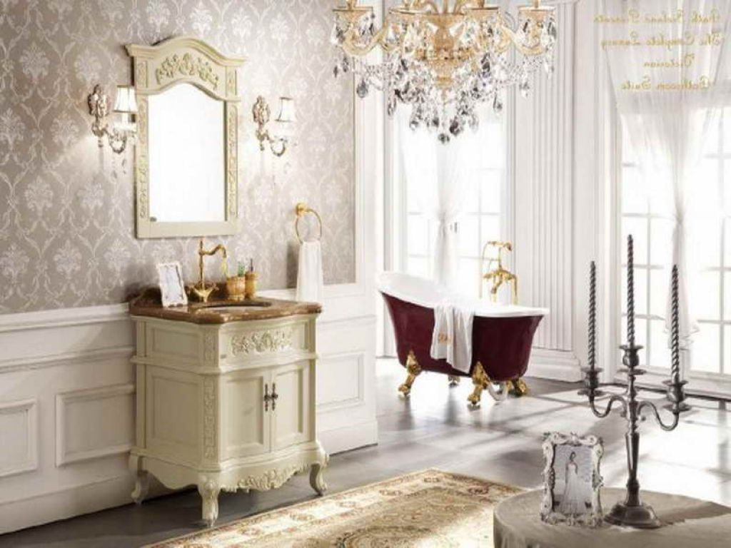 ... Victorian Bathroom Design Looks Nice With The Romantic  ...