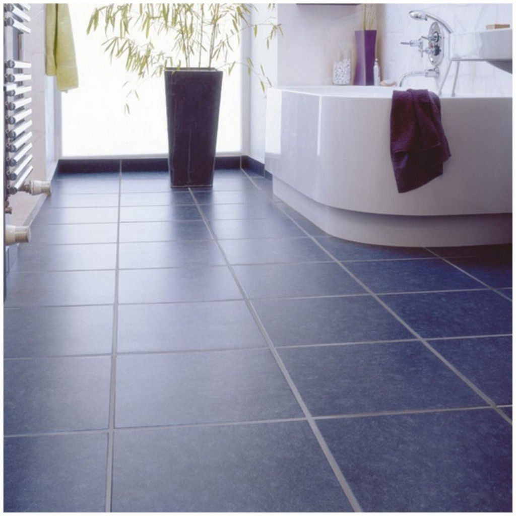 30 great ideas and pictures of self adhesive vinyl floor for Tile linoleum bathroom
