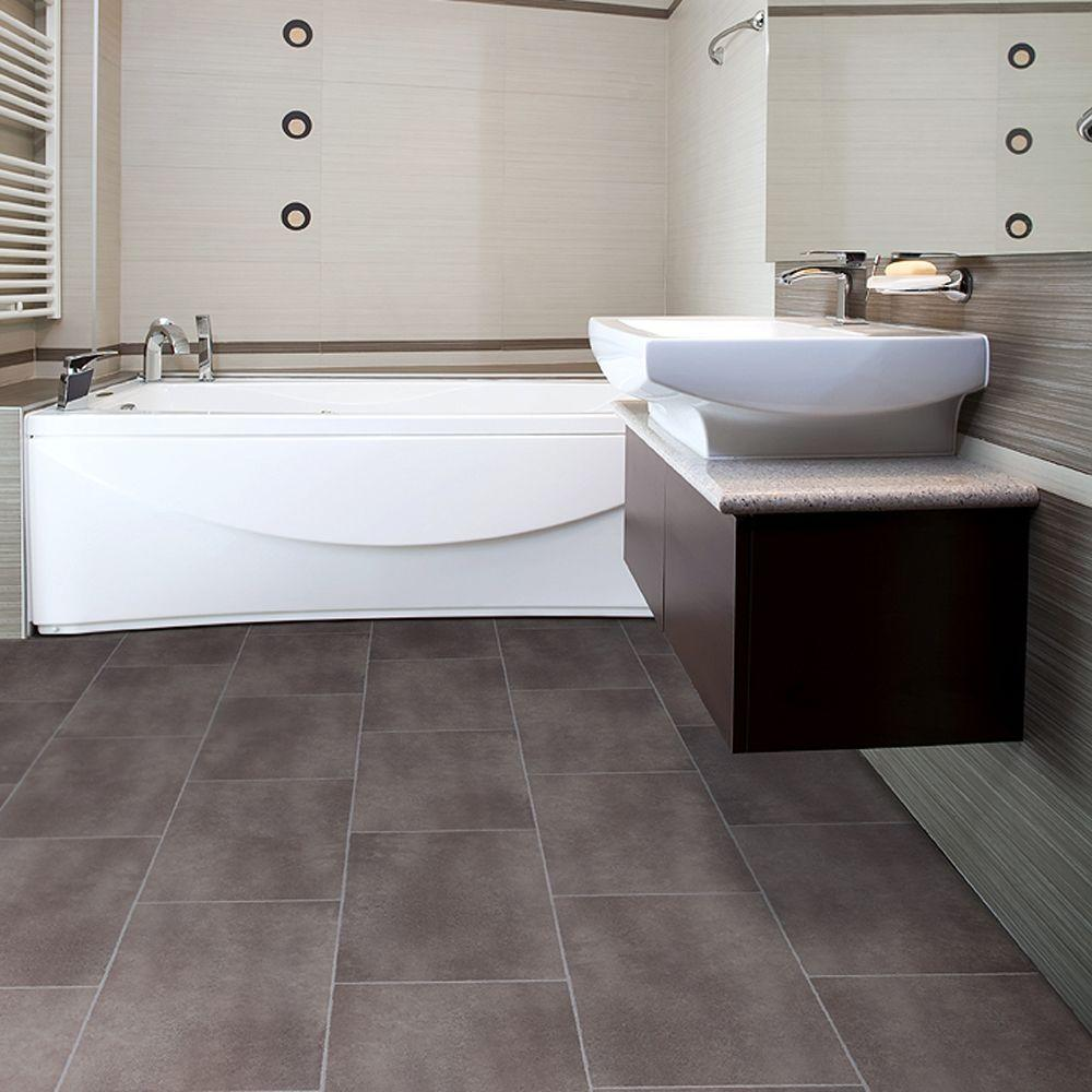 30 amazing ideas and pictures of the best vinyl tile for bathroom - Bathroom floor tiles design ...