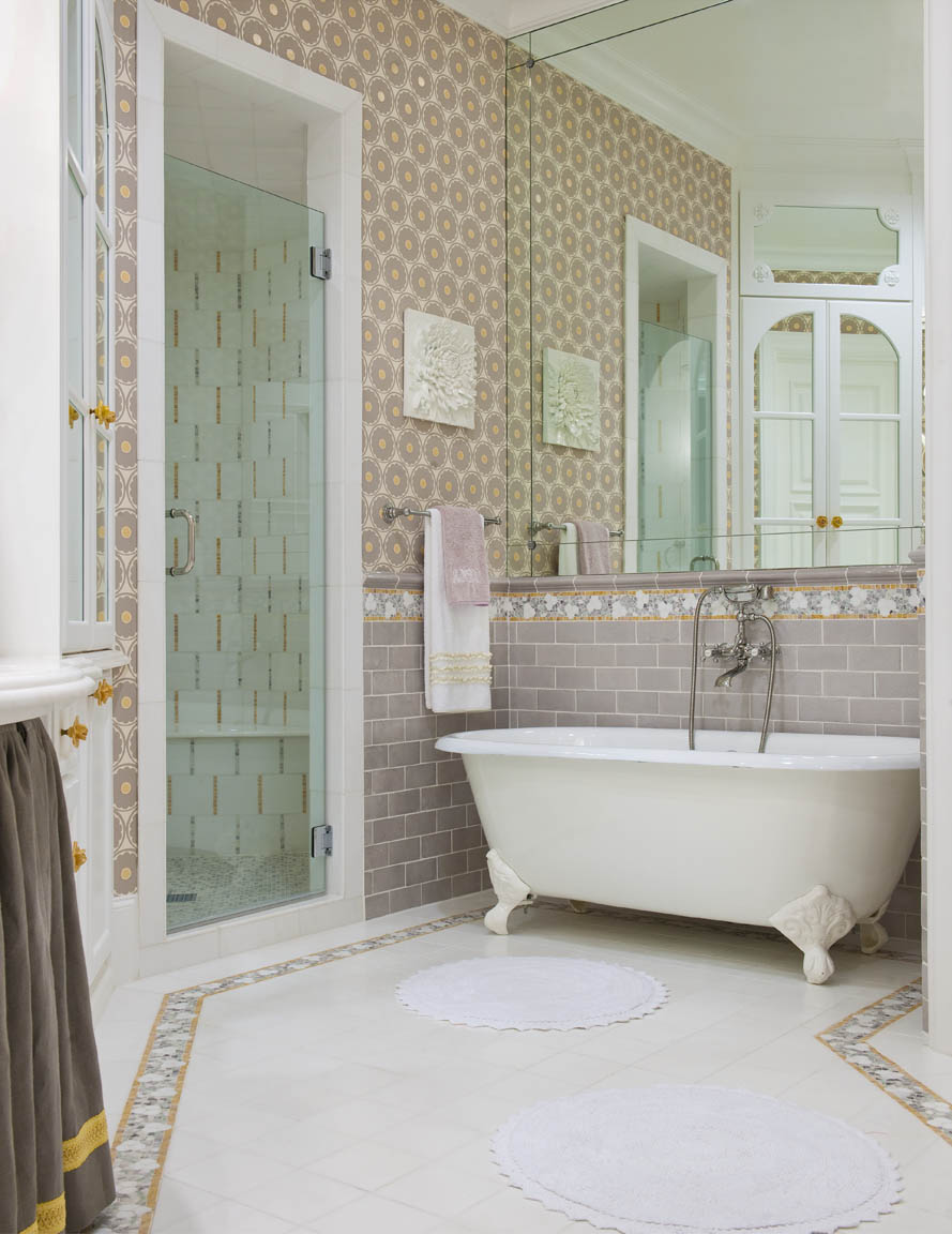 30 great pictures and ideas of old fashioned bathroom tile for Cool bathroom tiles
