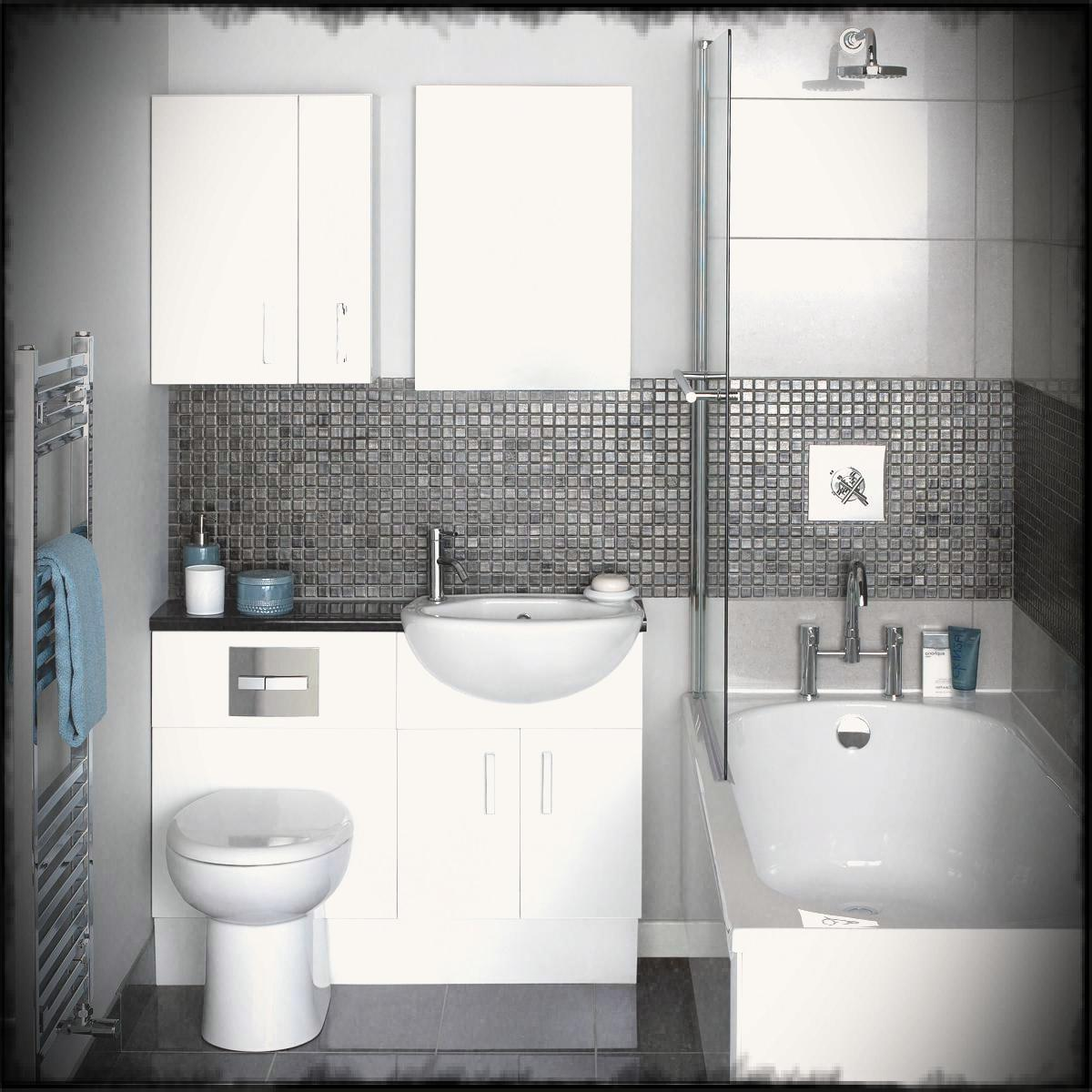 bathroom ideas for small home with white bathtup and toilet also grey