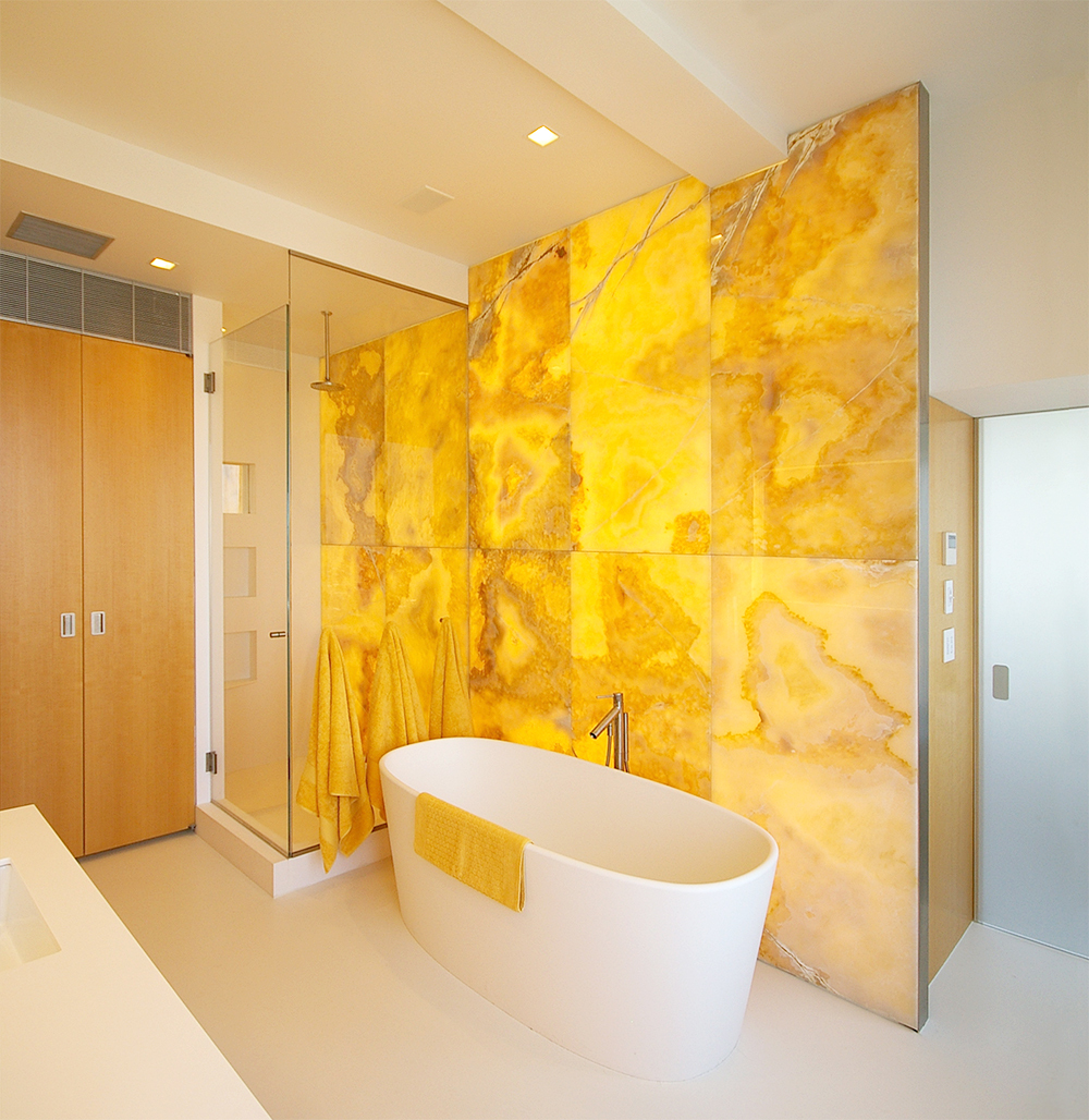 30 nice onyx bathroom tiles ideas and pictures for Bathroom ideas yellow tub