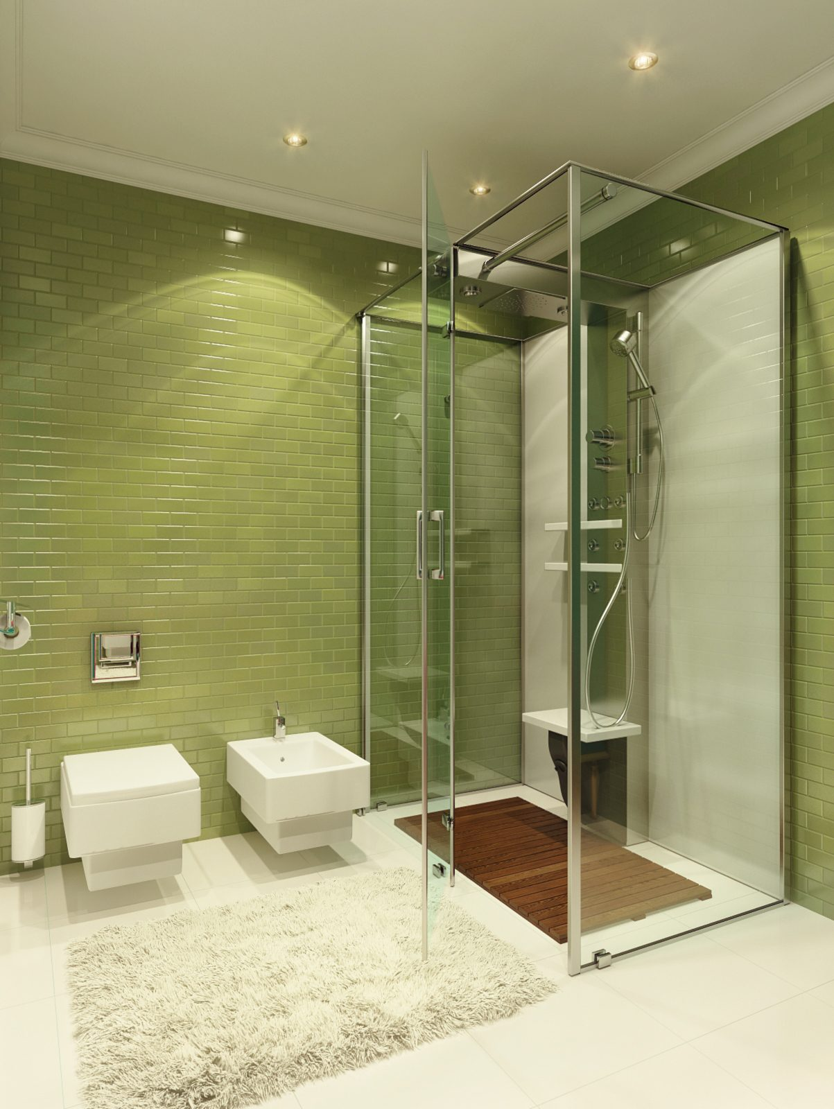 1. 27 cool granite bathroom floor tiles ideas and pictures