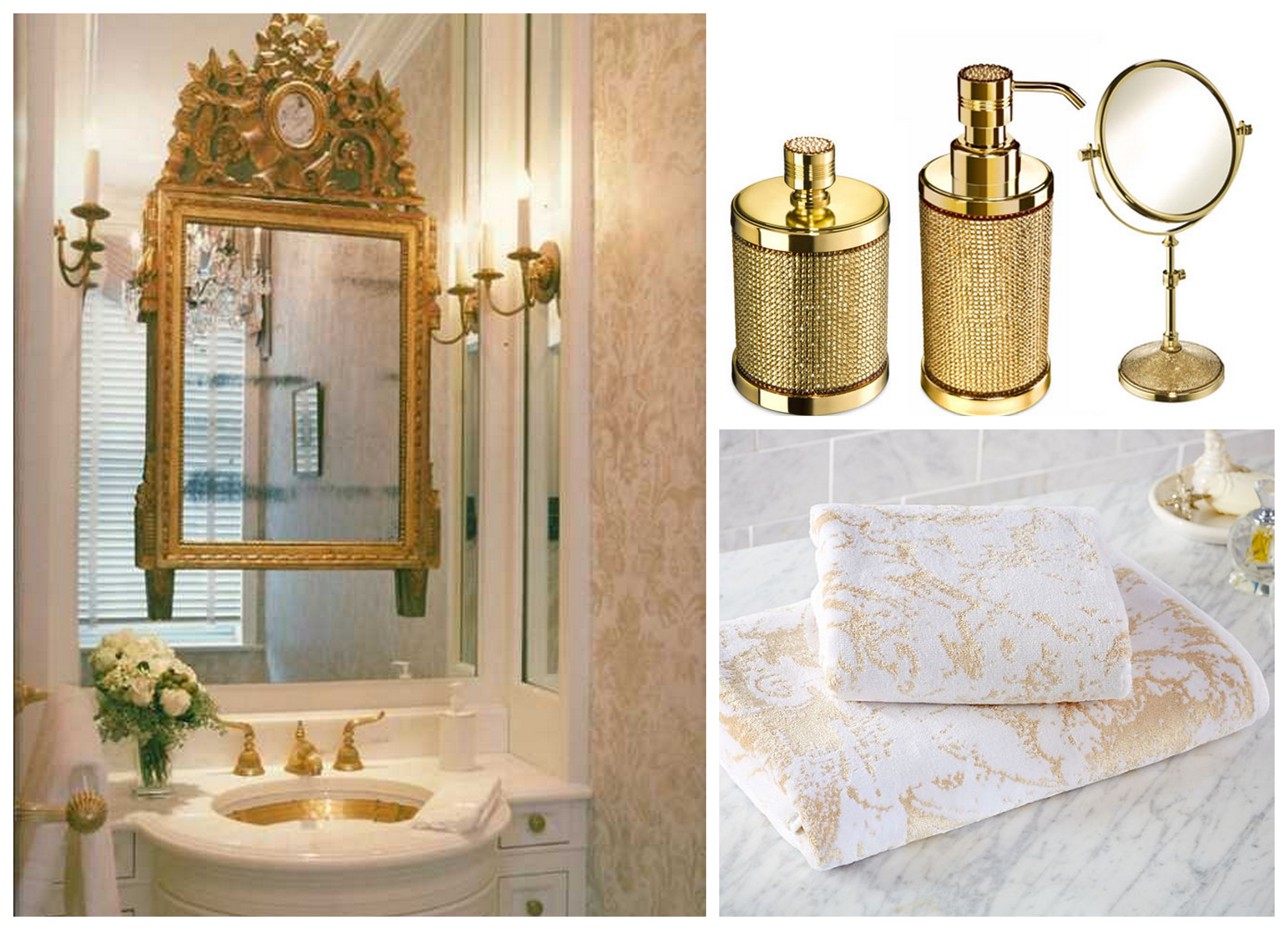 25 Best Ideas About Gold Bathroom Accessories On: 25 Cool Pictures And Ideas Of Gold Bathroom Tiles