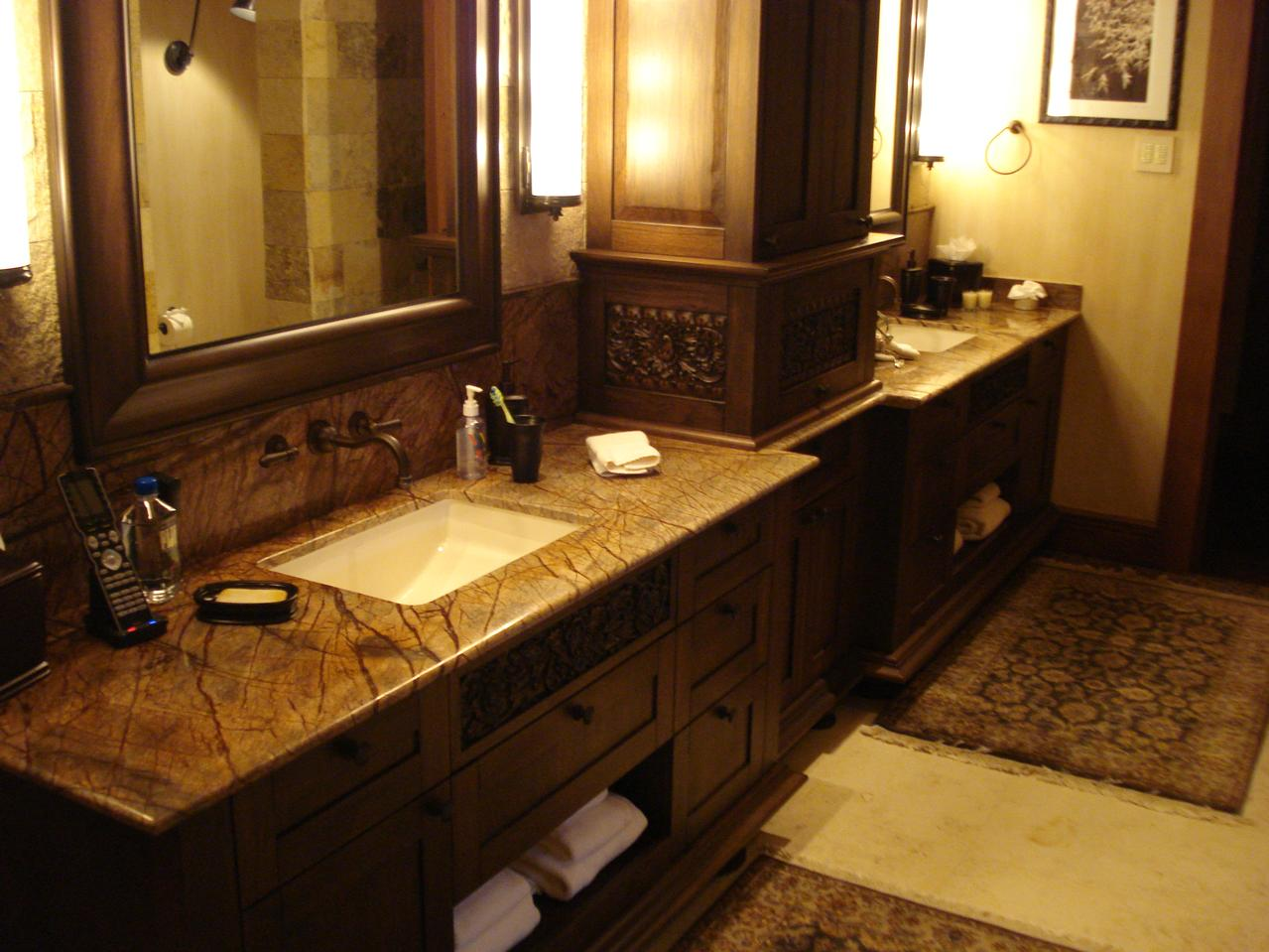 30 interesting bathroom countertop granite tile picture for Granite and tile bathroom ideas